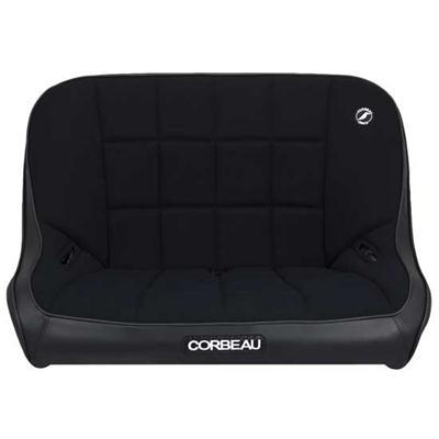 Baja Bench Off Road Suspension Seat in Black Vinyl/ Black Cloth
