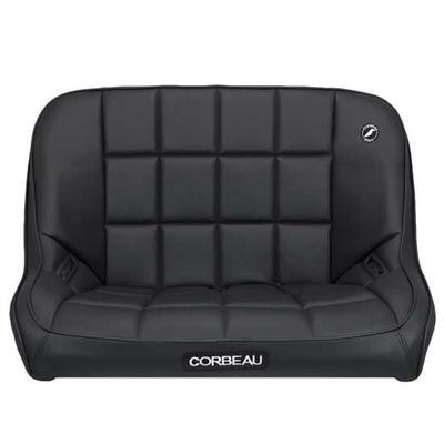 Baja Bench Off Road Suspension Seat in Black Vinyl