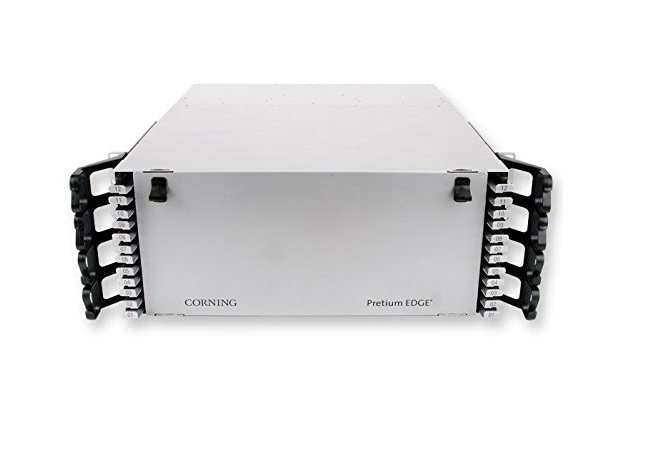 Corning Pretium EDGE8 4U Patch Panel Housing Rack Unit Holds Up To 72 EDGE8 Modules or Panels Silver EDGE8-04U