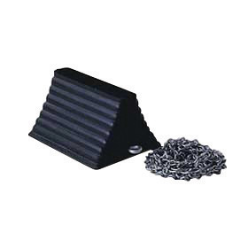 "Cortina Safety Products 10"" X 8"" X 6"" Black Recycled Rubber Heavy Duty Wheel Chock"