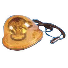 """Cortina Safety Products 8 1/8"""" X 5 1/2"""" X 5 3/4"""" 12 V Amber Magnetic Mount Tear Drop Rotating Halogen Beacon Light With Aluminum"""