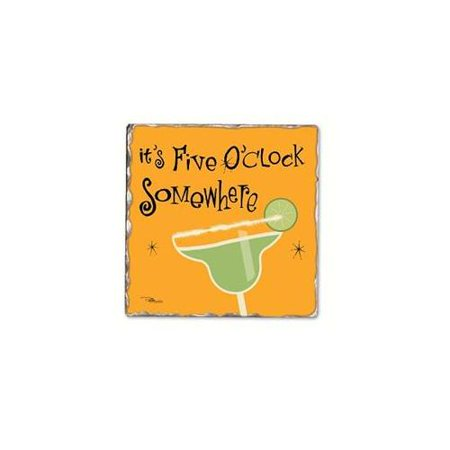5 O'Clock Magarita Single Tumbled Tile Coaster
