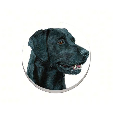 Black Lab Car Coaster
