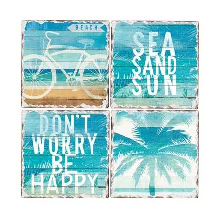 Beachscapes Tumbled Tile Coaster  Set of 4