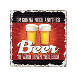 Another Beer Single Tumble Tile Coaster