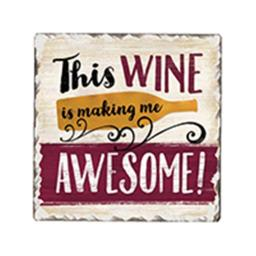 Awesone Wine Single Tumble Tile Coaster
