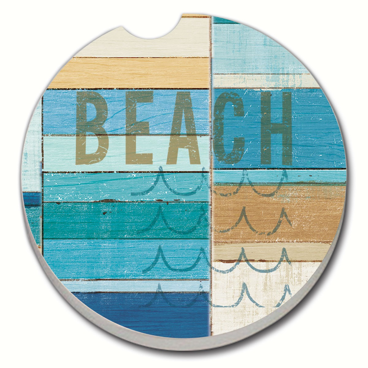 Beachscape Car Coaster