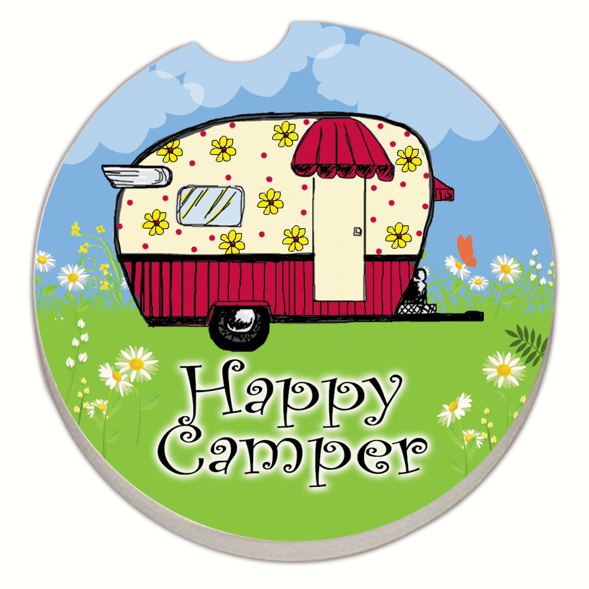 Happy Camper Car Coaster
