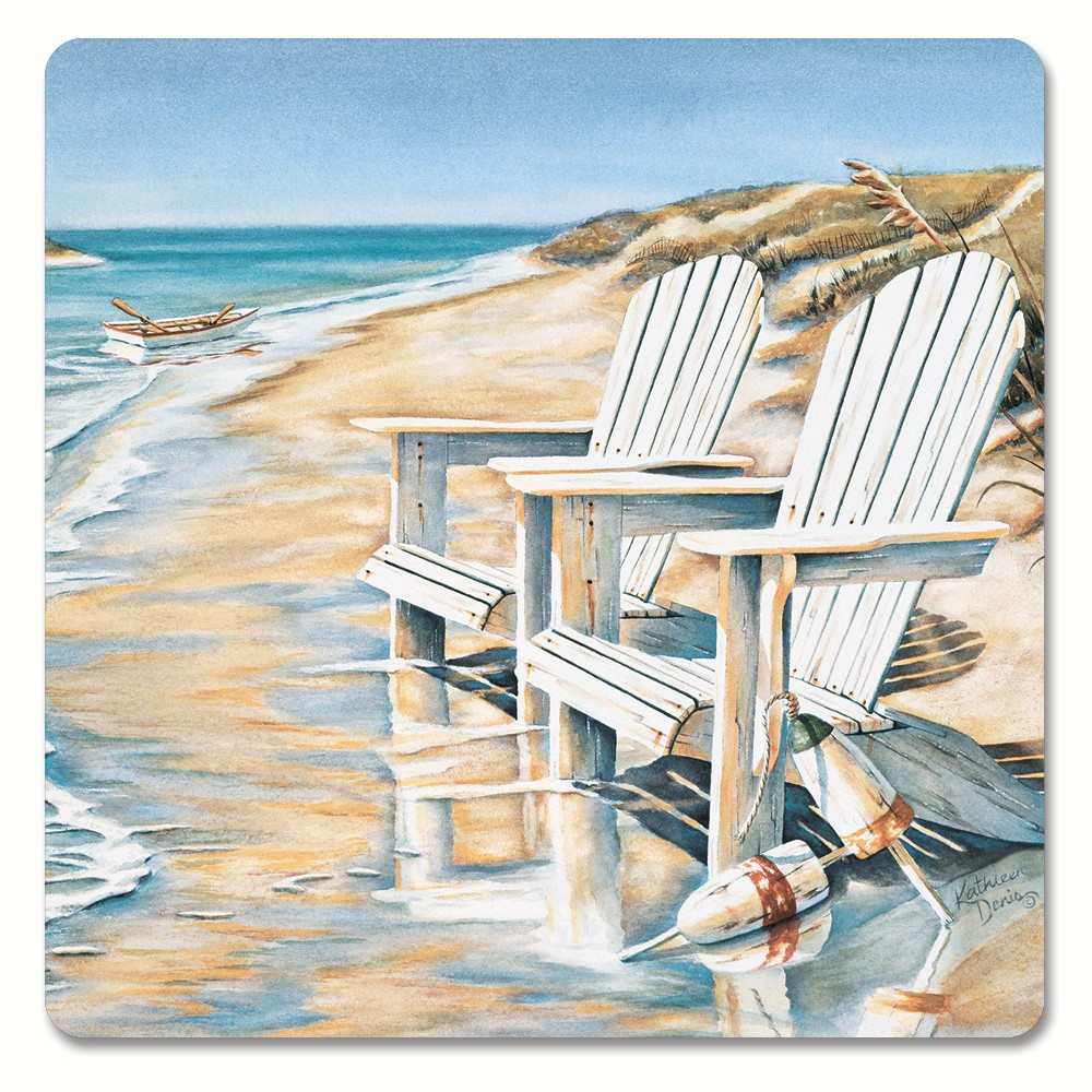 Beach Days Hardboard Coasters Set of 4
