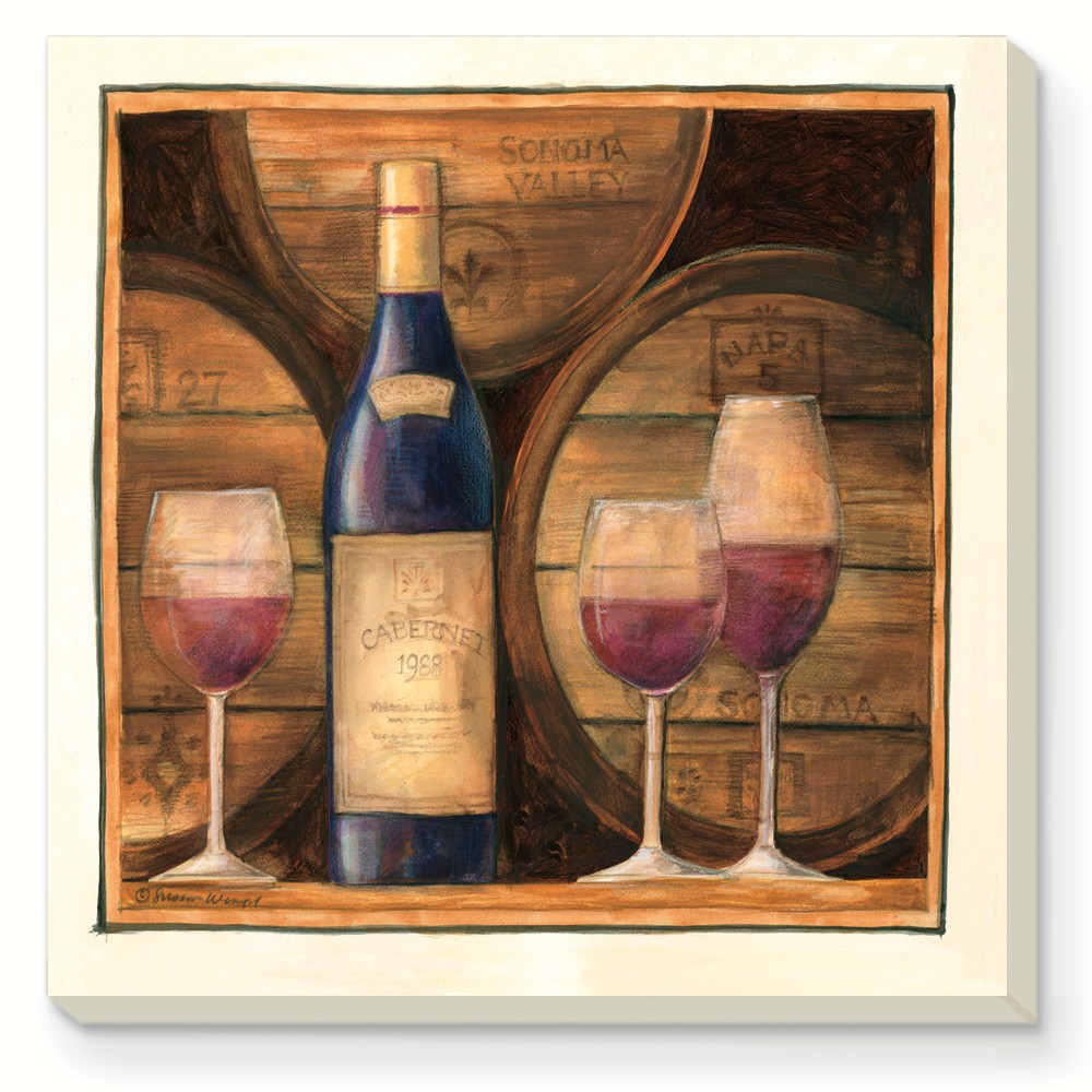Barrels of Wine Coasters Set of 4
