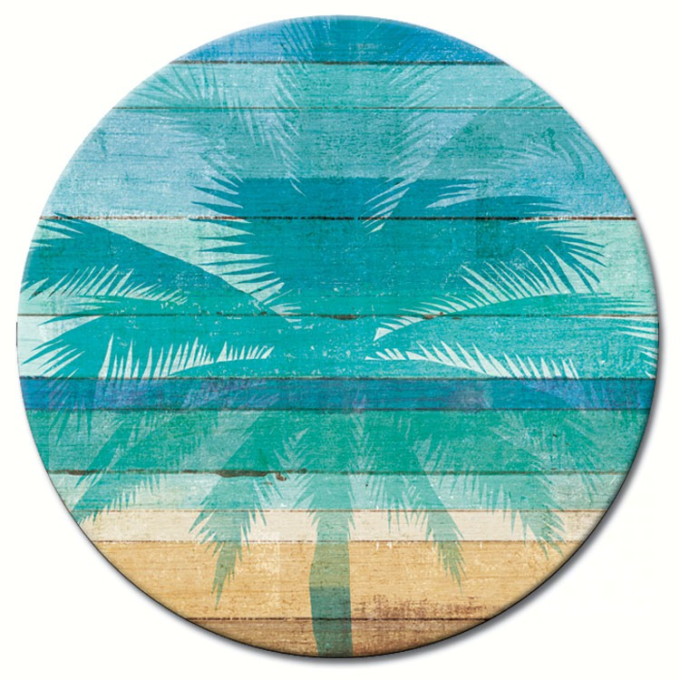 Beachscapes Glass Lazy Susan 13""
