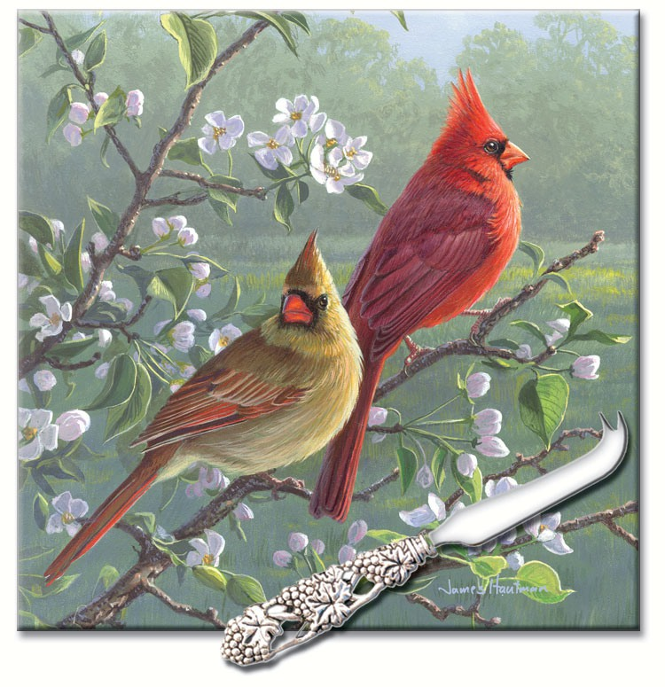 Beautiful Songbirds Square Cheese Board