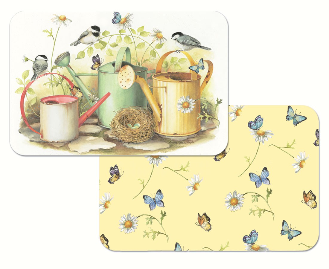Chickadees & Butterflies Reversible Placemat