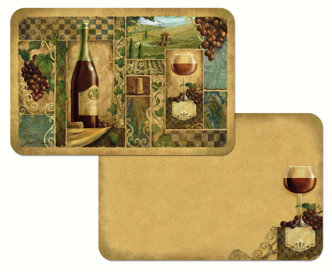 Italian Wine Reversible Placemat