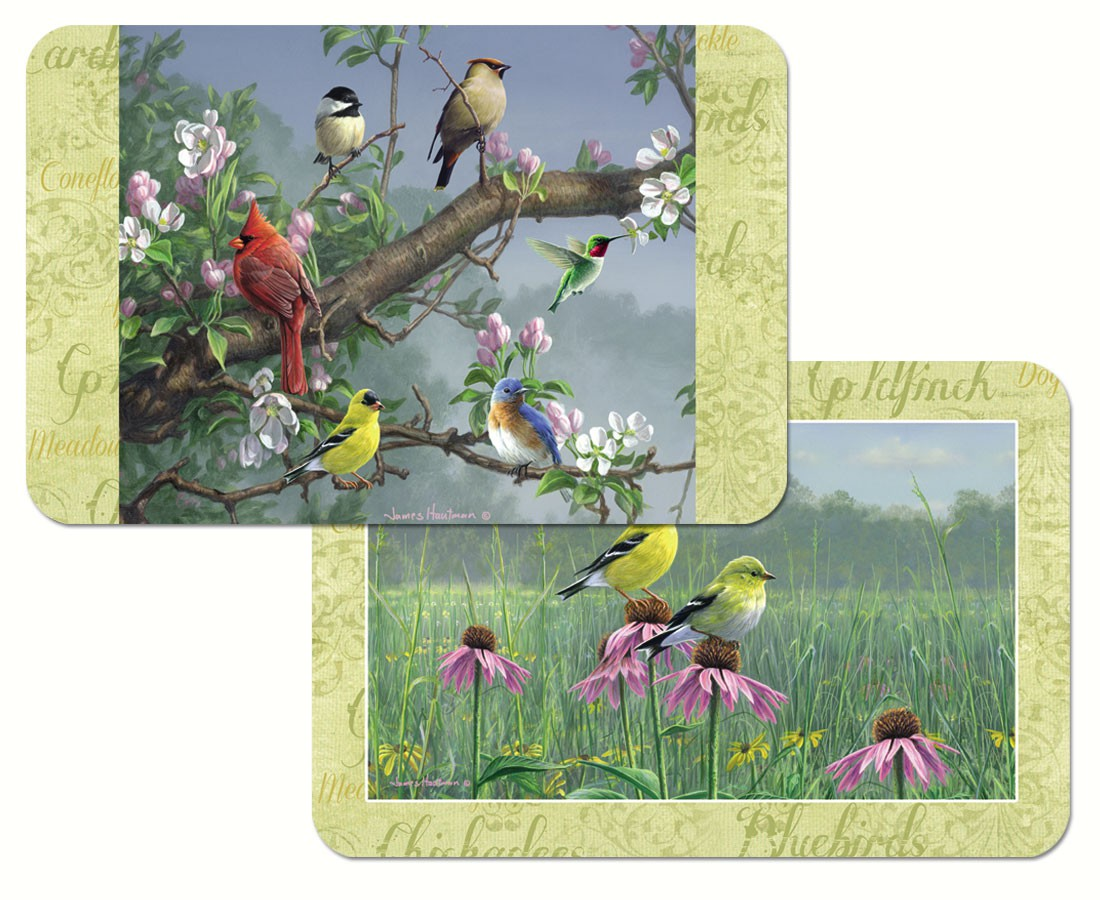 Beautiful Songbirds Reversible Placemat Plastic