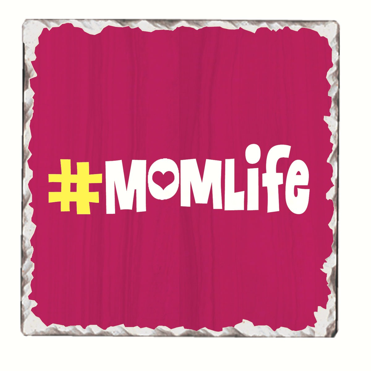 #momlife Single Tumbled Tile Coaster
