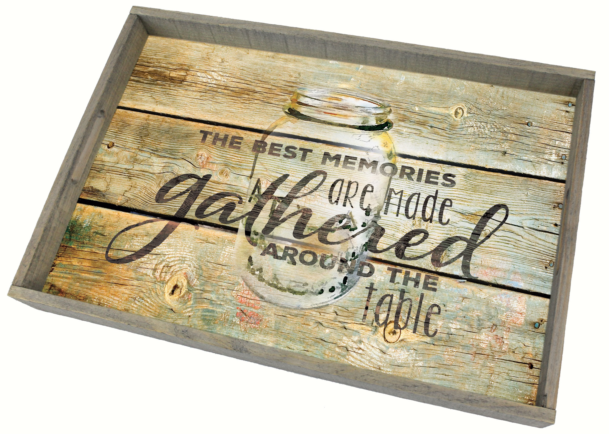 Family Time Wooden Tray