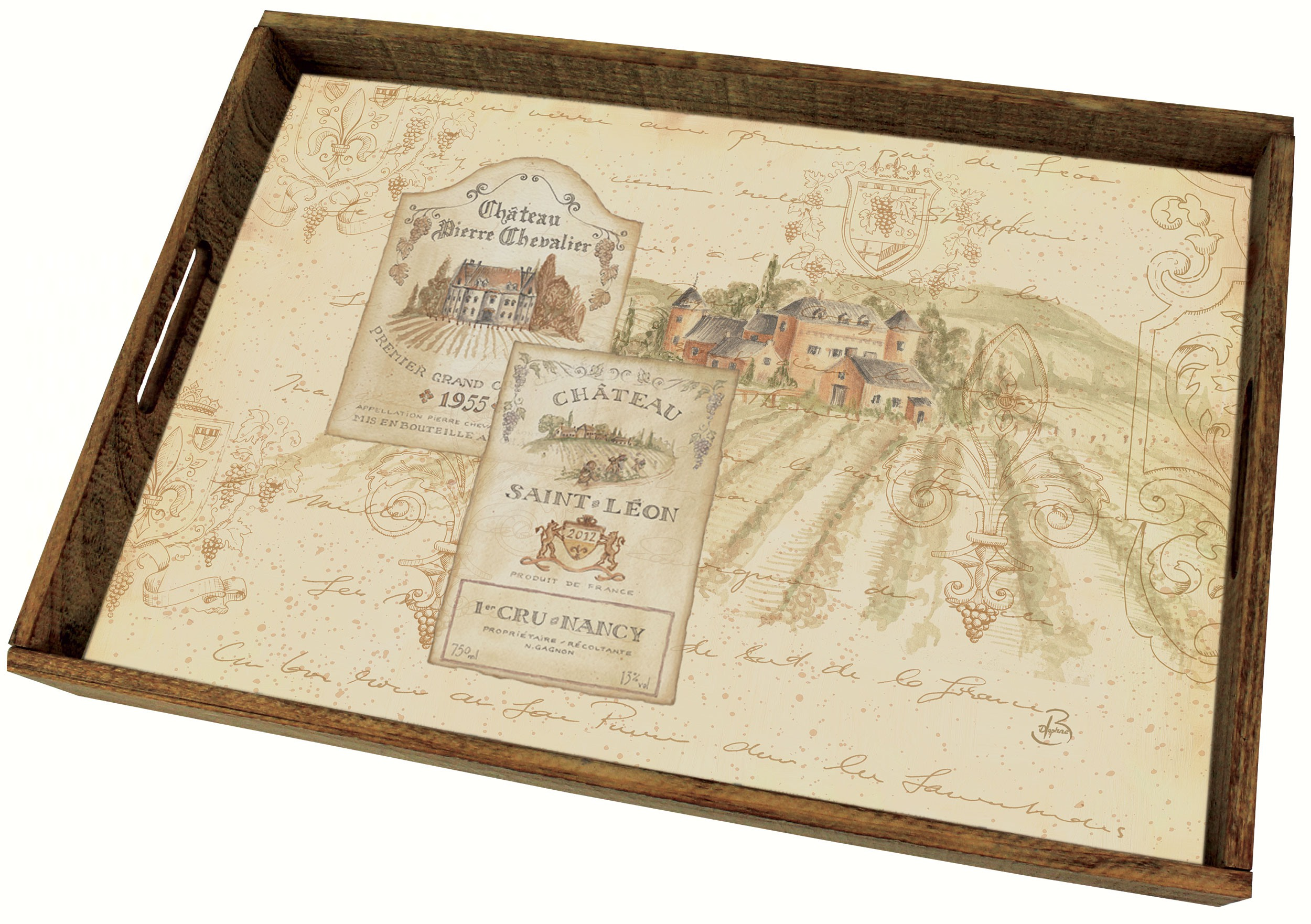 Wine Tradition Wooden Tray