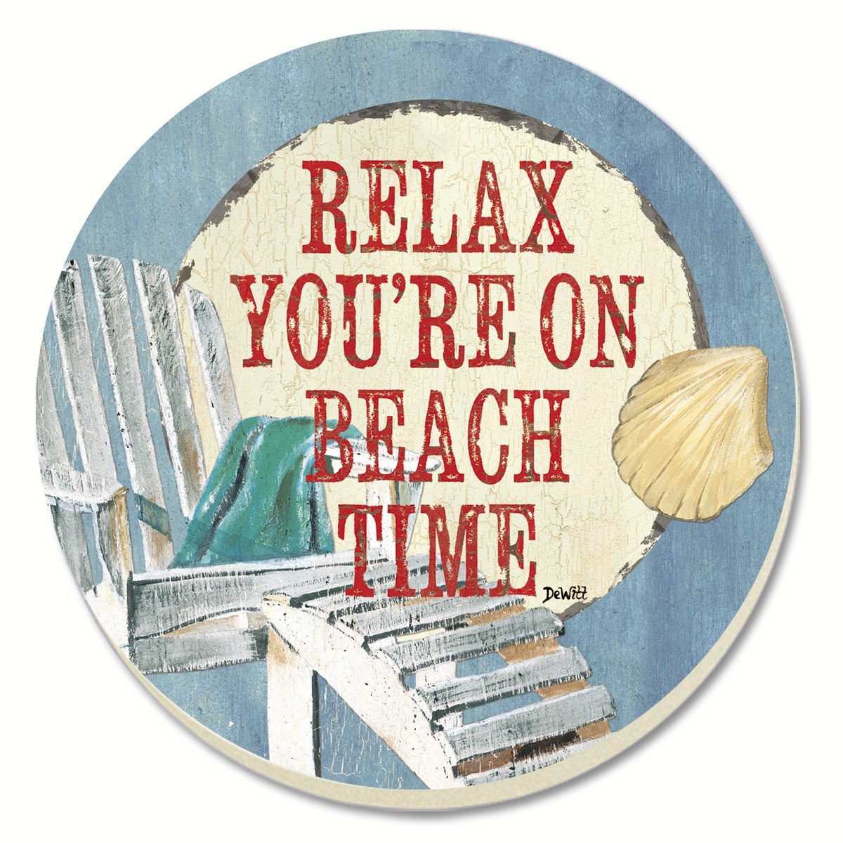 Beach Time Coasters Set of 4