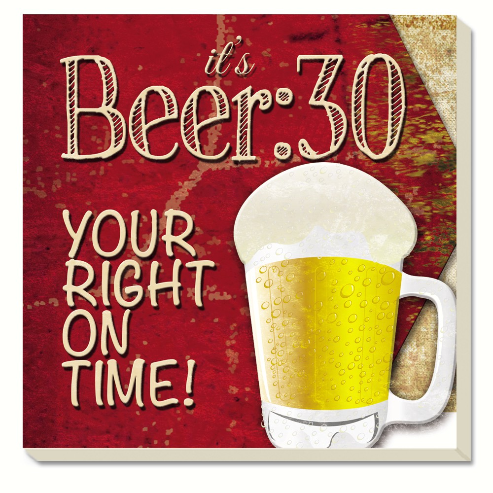 Beer 30 Coasters Set of 4
