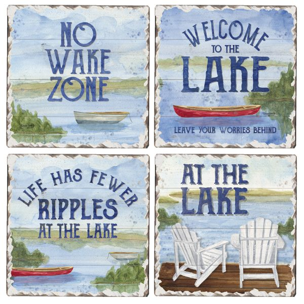 At the Lake 4 pk Assortment Coasters
