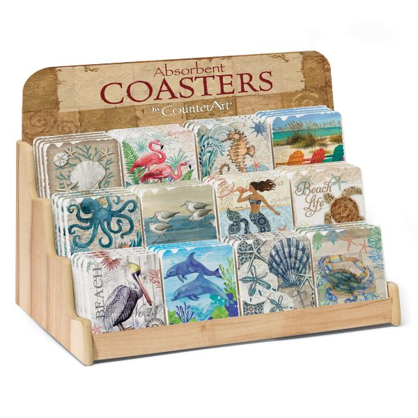 Beach Vibes Assortment w/ Counter Dispaly (72 Coasters)