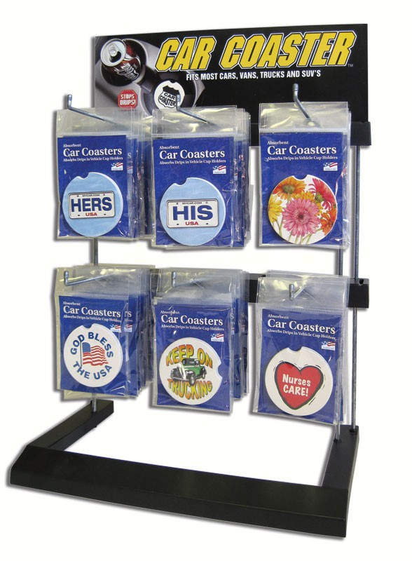 Car Coaster 6 Peg Counter Display