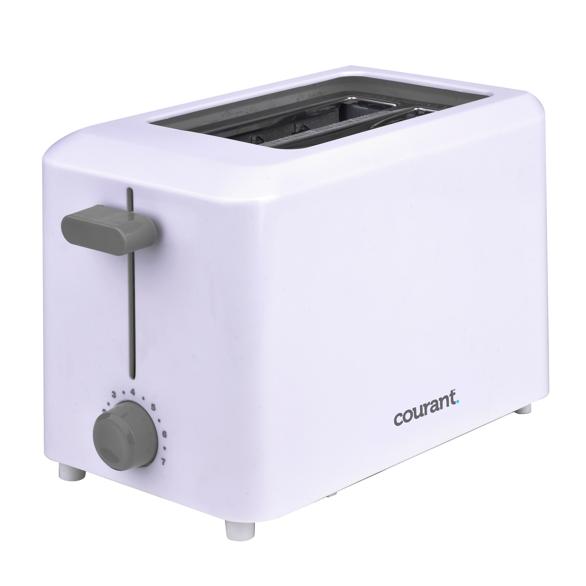 Courant Cool Touch 2-Slice 750-Watts Toaster, White