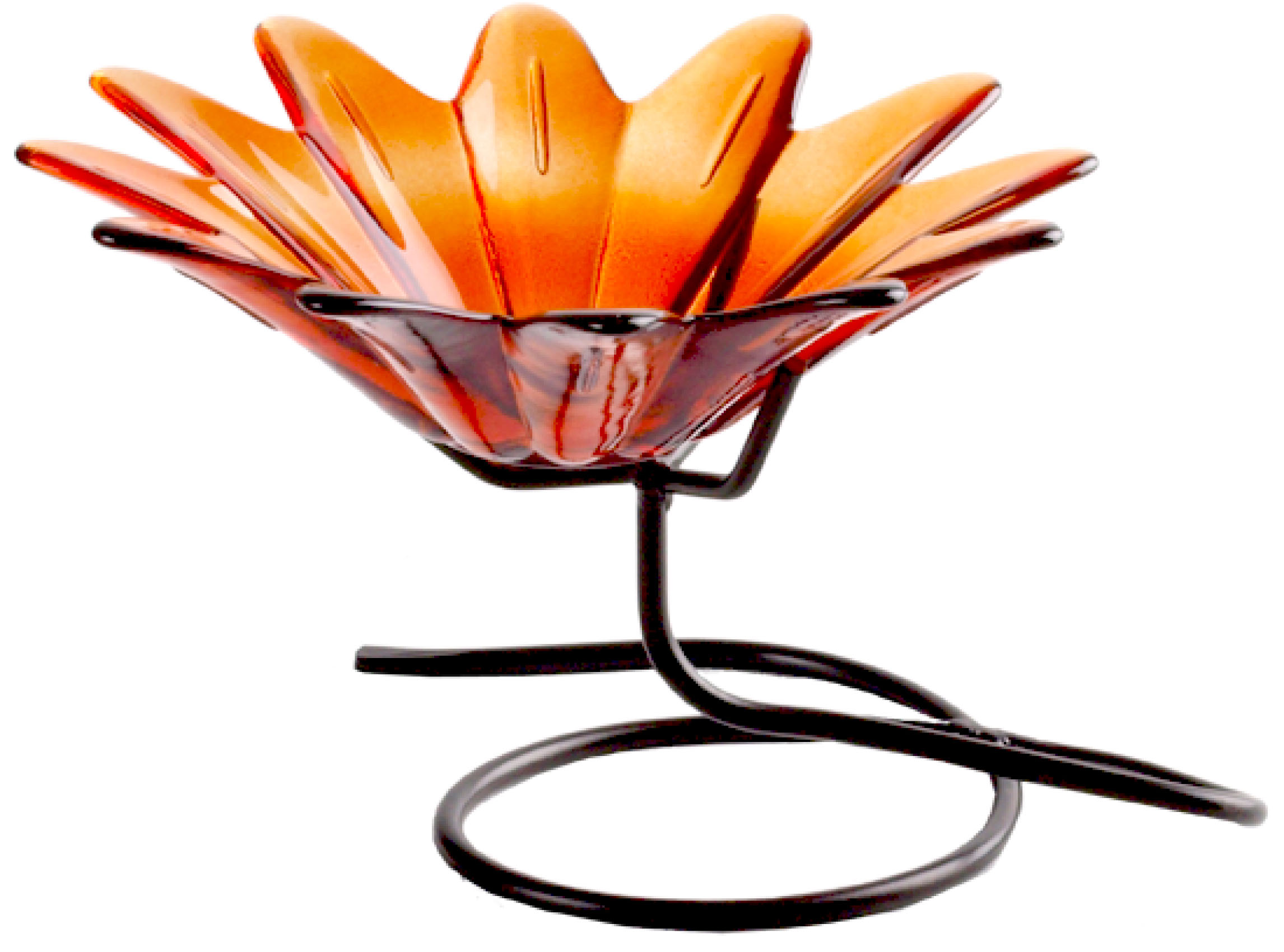 4 inch Daisy Bowl Orange with Branch Stand