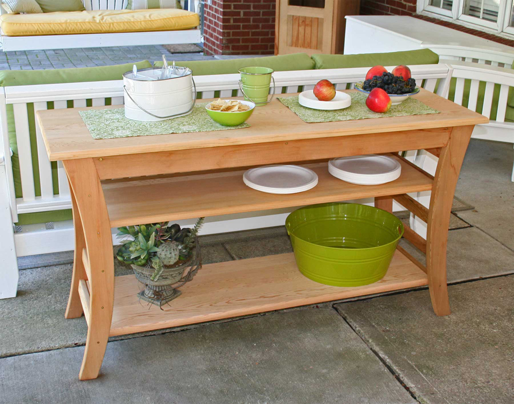 "48"" Cedar Entertaining Buffet Table"