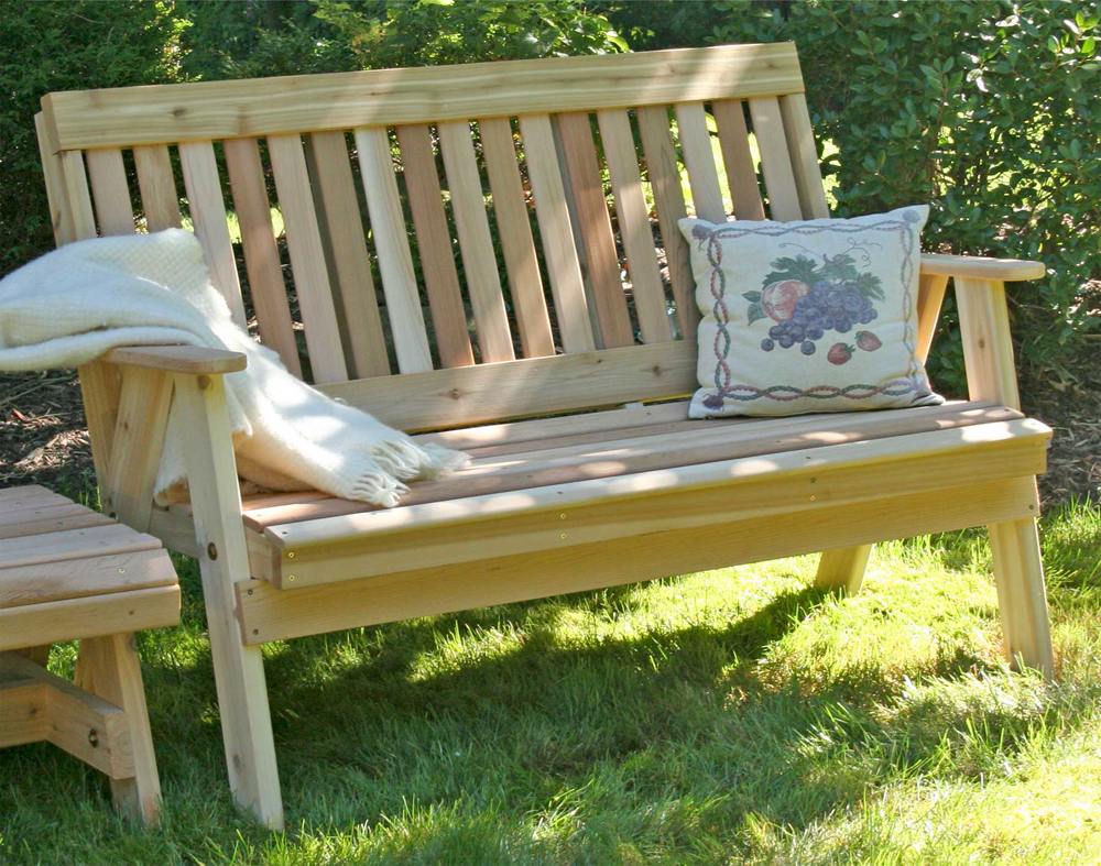 4' Cedar Countryside Garden Bench