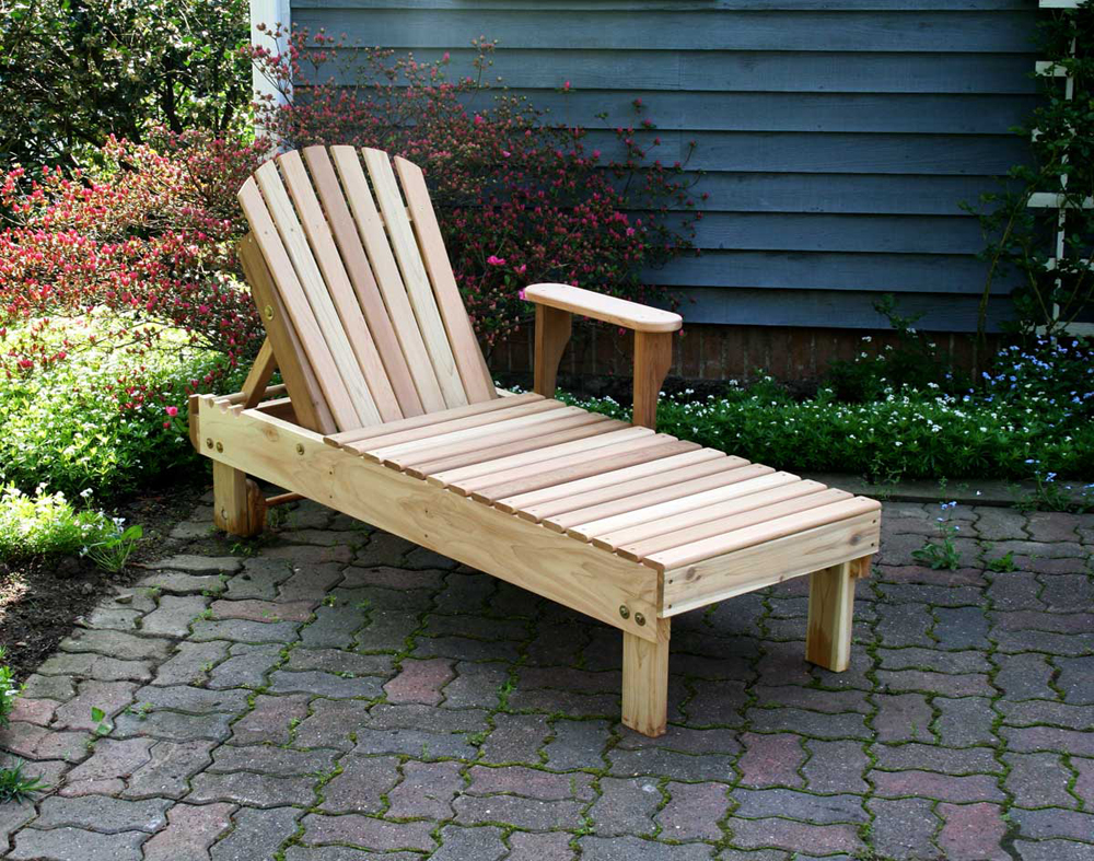Cedar American Forest Chaise Lounge