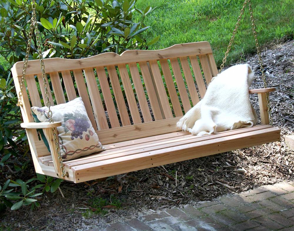 5' Cedar Countryside Porch Swing
