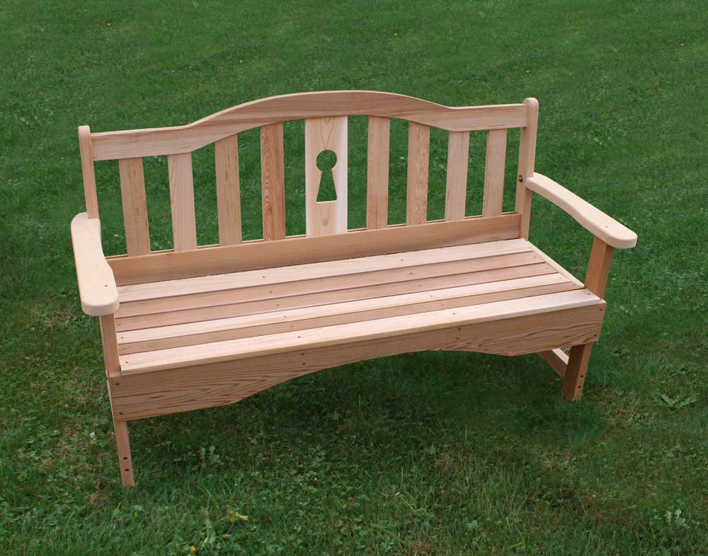 4' Cedar Keyway Garden Bench