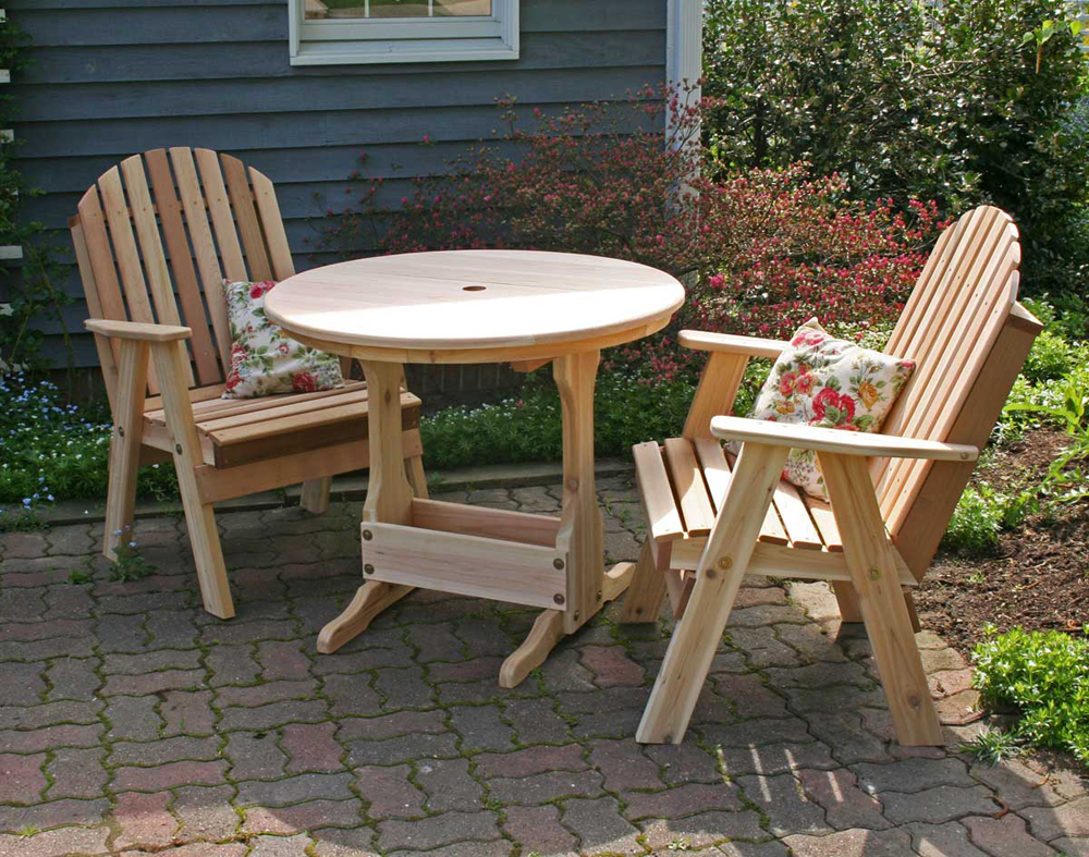 Cedar Fanback Bistro Set