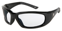 Crews Force Flex� Next Generation Ultra-Flexible Safety Glasses With Multi-Polymer Black Frame And Clear Anti-Fog Lens