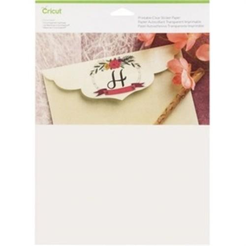 Clear Sticker Paper 8.5x11 5Ct