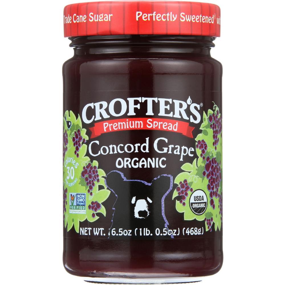 Crofter's - Premium Concord Grape Spread ( 6 - 16.5 OZ)