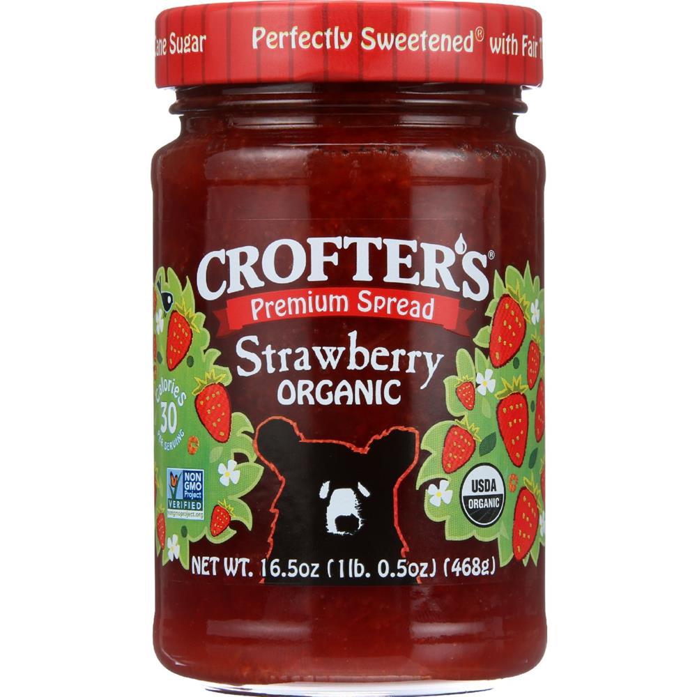 Crofter's - Premium Strawberry Spread ( 6 - 16.5 OZ)