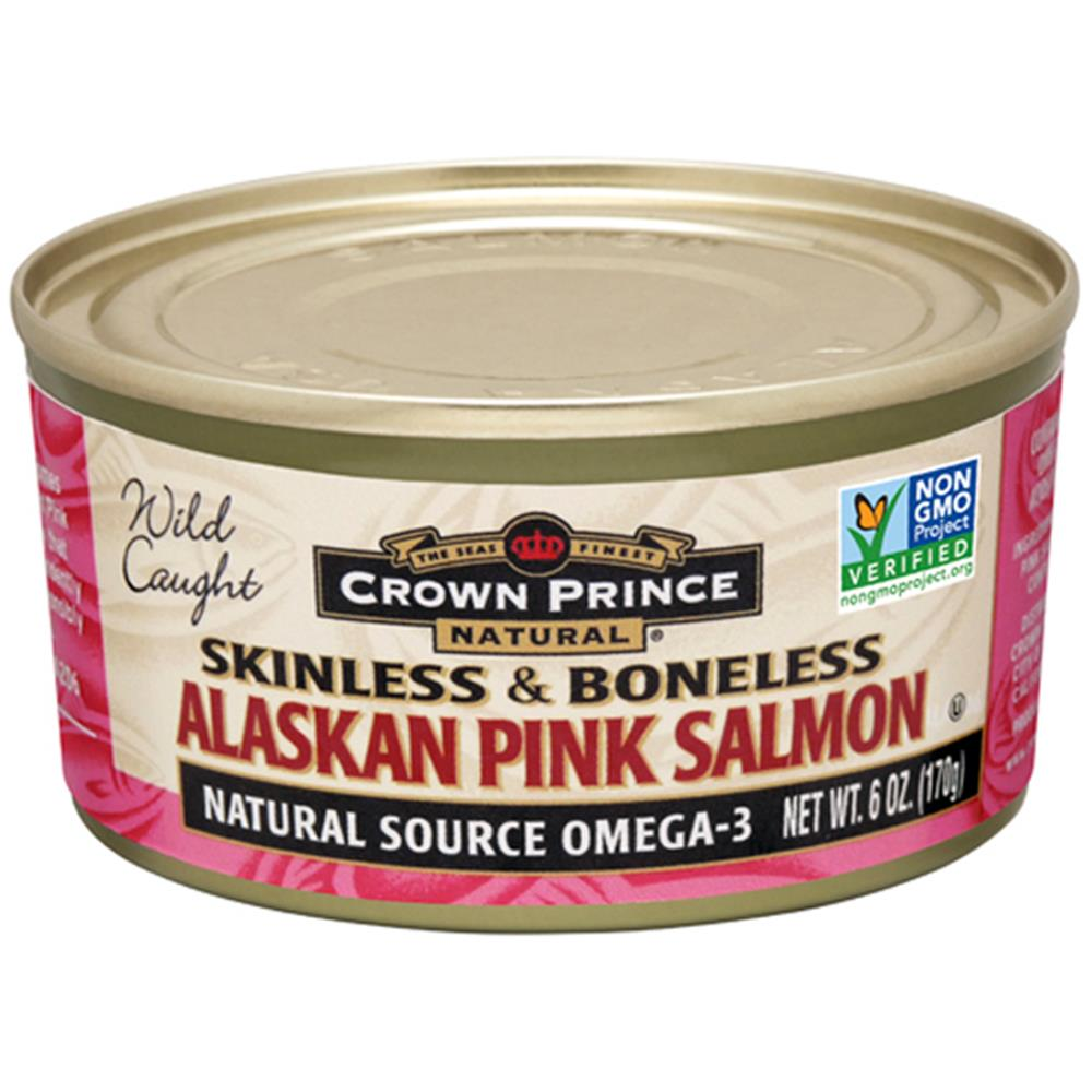 Crown Prince - Skinless & Boneless Alaskan Pink Salmon ( 12 - 6 OZ)
