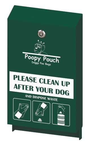 Regal Pet Waste Station, 12 x 14 x 96, Hunter Green