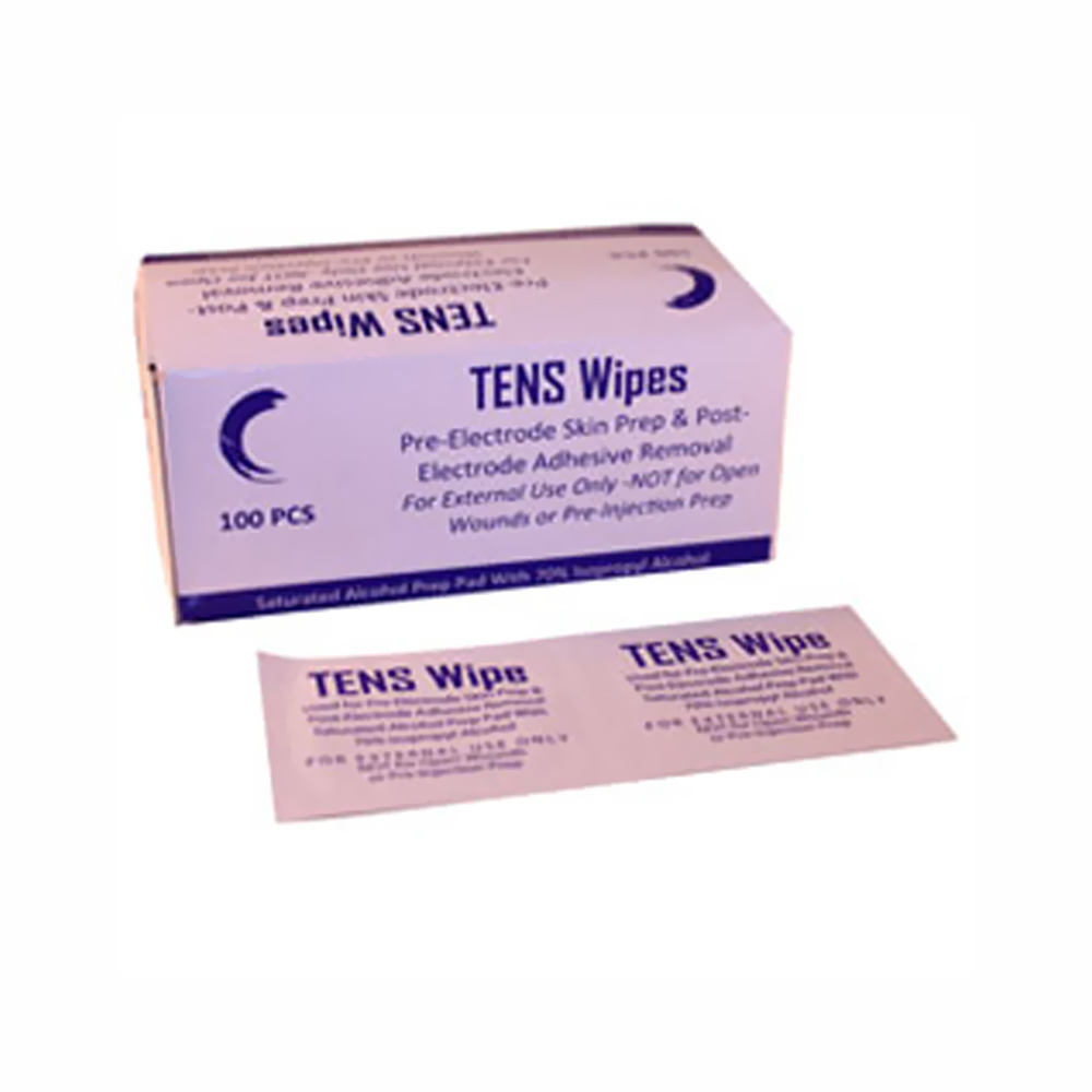 Stim Wipes for TENS Applications - TENS Skin Prep Wipes (5ml packets)