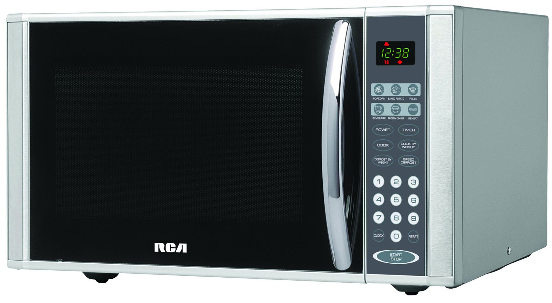 RCA 1.1 CU Ft Microwave Oven Stainless Steel