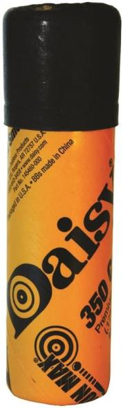 Daisy 530 Tube BBs, 350 CT, 0.177 Caliber, Zinc-Plated Steel, 4.5 mm