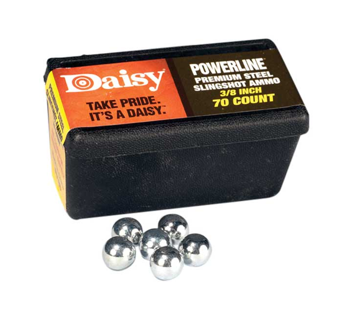 Daisy Steel Slingshot Ammo Trapped Blister Black 3/8 Inch