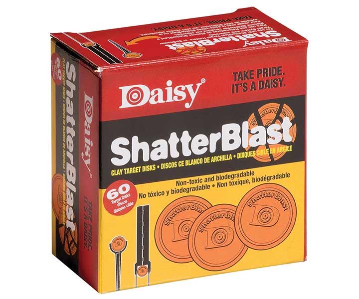 Daisy Shatterblast Breakable Refill Target 2 Inch Disks 60 Pack