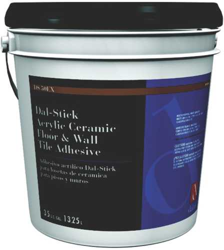DALTILE� DAL-STICK ACRYLIC CERAMIC FLOOR & WALL TILE ADHESIVE, 3.5 GALLONS