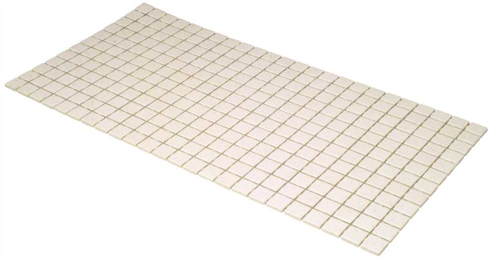 DALTILE KEYSTONES� MOSAIC TILE, PEPPER WHITE, 1X1 IN., 24 SQ. FT. PER CASE