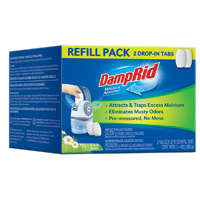Damprid FG92 Bead Moisture Absorber, 10.5 oz Pouch, White to Off-White, Solid