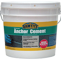Damtite 08122/08121 High Strength Anchoring Cement, 12 lb, Pail